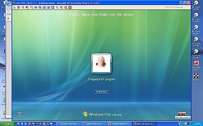 DualDesk remote support software running on Vista as a service