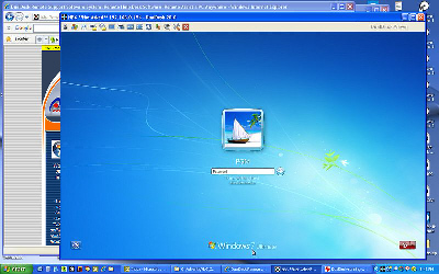 DualDesk remote support software running as a service on Windows 7
